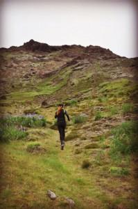 Lite bergslöpning på Island